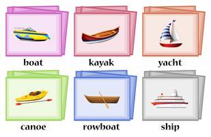 Watertransporten op flashcards