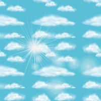 Achtergrondontwerp met blauwe hemel