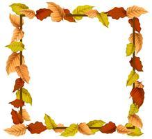 Een herfstbladrand vector