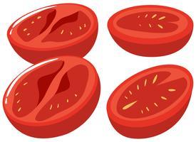Plakjes verse tomaat vector