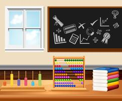 Klas met boeken en instrumenten