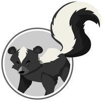 Een skunk-stickersjabloon vector