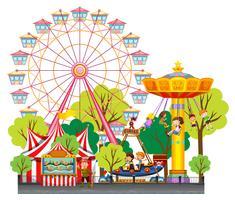 Kinderen vermaken zich in het circus