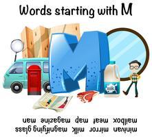Woorden die beginnen met M-illustratie