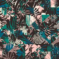 Naadloos exotisch patroon met tropische planten.