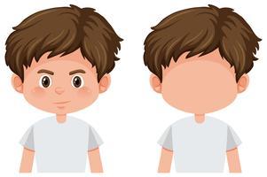 Set van jongenskarakter vector