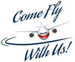 Advertentieposter voor luchtvaartmaatschappij vector