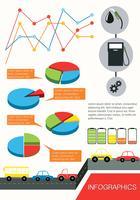 Infographics van de voertuigen vector