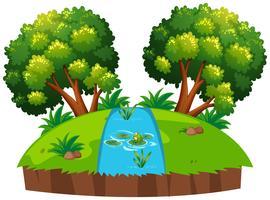 Een islolated riviervijver vector