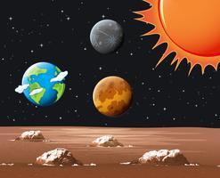 Verschillende planeten in het zonnestelsel vector