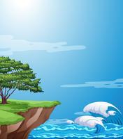 Een natuur klif landschap vector