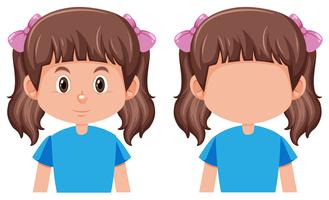 Een schattig meisje karakter vector