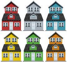 Huis met zes verschillende kleuren