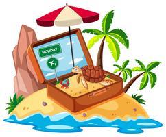 Stranditem op eiland