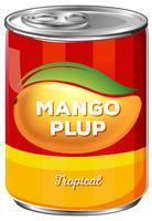 Kan van tropische mango plup vector
