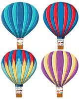 Set van hete luchtballon vector