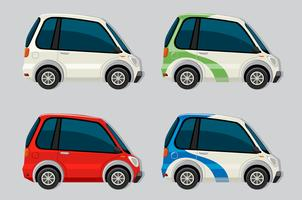 Set van elektrische auto