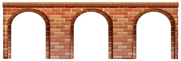 Een betonnen brug vector