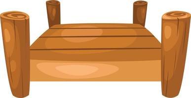 brug illustratie op witte achtergrond vector