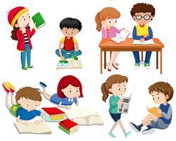 Een set goede studenten vector
