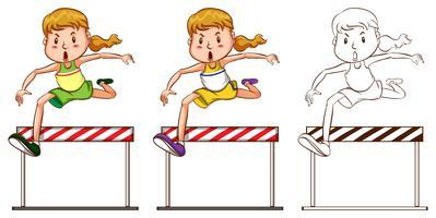 Doodle karakter voor runner