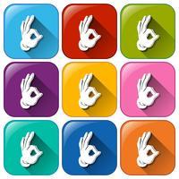 Hand pictogrammen vector