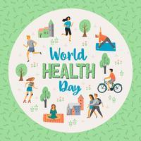 Wereldgezondheidsdag. Gezonde levensstijl. vector