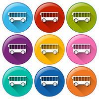 Bus pictogrammen vector