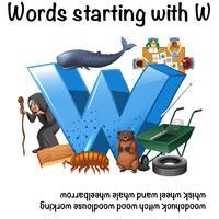 Woorden beginnend met letter W