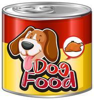 Hondenvoer in aluminium blik vector