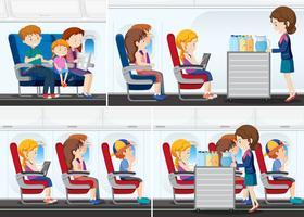 Passagier in het vliegtuig vector