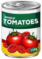Een blikje hele tomaten vector