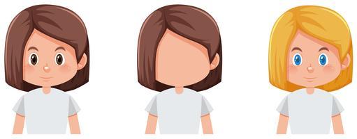 Set van meisje karakter vector