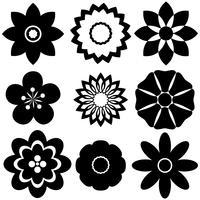 Groep bloemenmalplaatjes