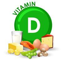 Een set vitamine D-voedingsmiddelen