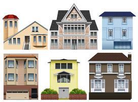 Verschillende ontwerpen van huizen