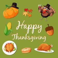 Happy thanksgiving element sjabloon