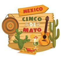Cinco de Mayo. Vector illustratie