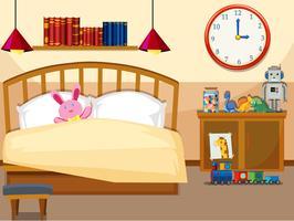 Interieur van eenvoudige slaapkamer vector