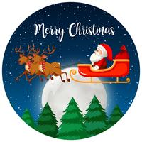 Vrolijk kerstmissanta en rendier vector