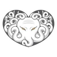 octopus liefde vector tekening