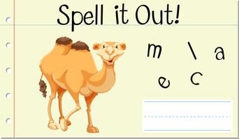 Woord Engels woord kameel