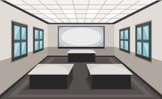 Binnenland van klaslokaalscène