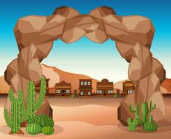 West-stad met rock-ingang