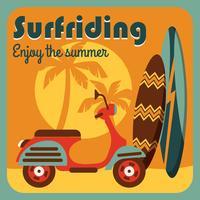 Vectorillustratie van actieve zomervakantie.