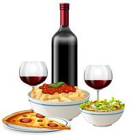 Een Italiaanse keuken op witte achtergrond vector