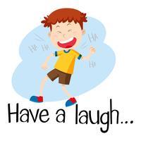 Wordcard voor een lach