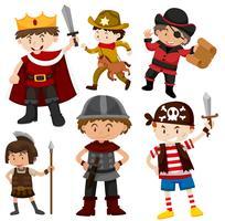 Set van kinderen in kostuums