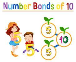 Nummer obligaties van tien