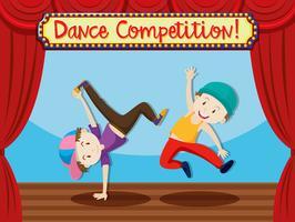 Straatdanswedstrijd op het podium